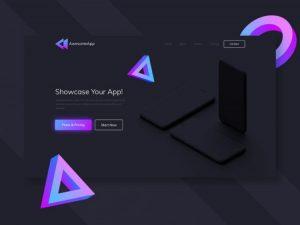 App Showcasing Free XD Landing Page