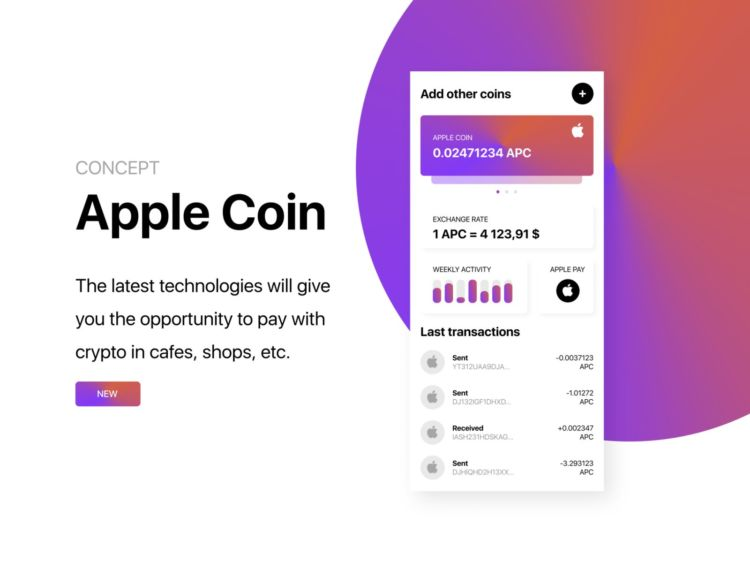 Apple Coin App Design Free UI Kit