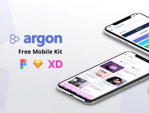 Argon – Free XD mobile UI kit