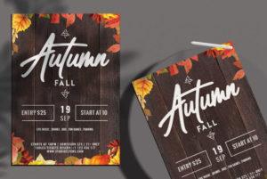 Autumn Fall Free PSD Flyer Template vol2
