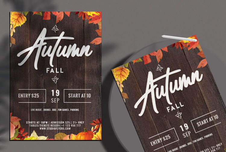 Autumn Fall Free PSD Flyer Template vol2