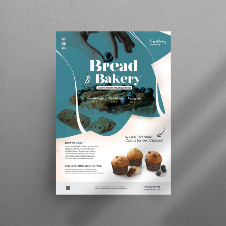 Bakery & Cupcake Ad Free PSD Flyer Template
