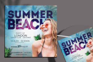 Beach Vibe Freebie Summer Flyer Template