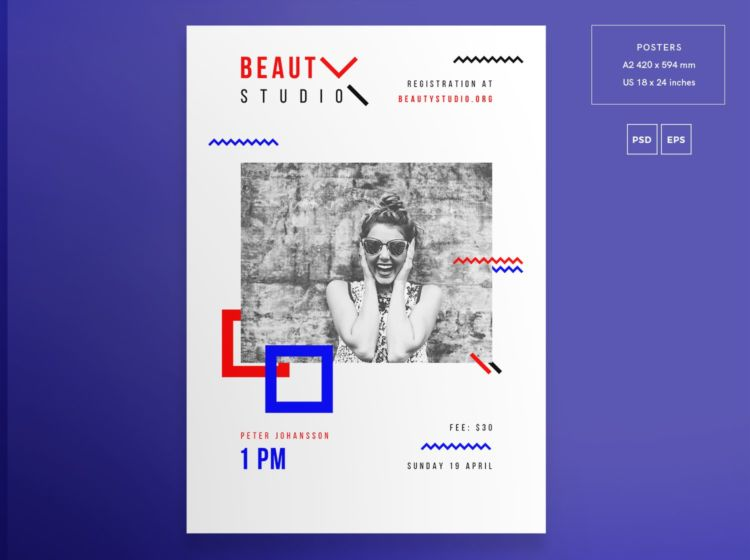 Beauty Parlor Free PSD Flyer Template