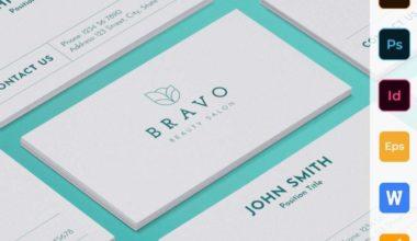 Beauty Salon Free Business Card PSD Template