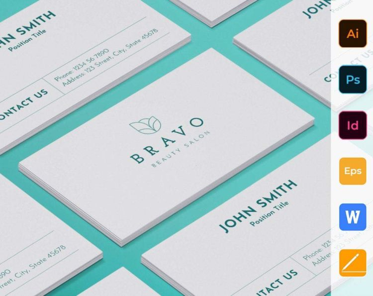 Beauty Salon Free Business Card PSD Template