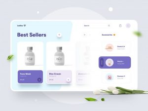 Beauty Store Free Website Concept Template