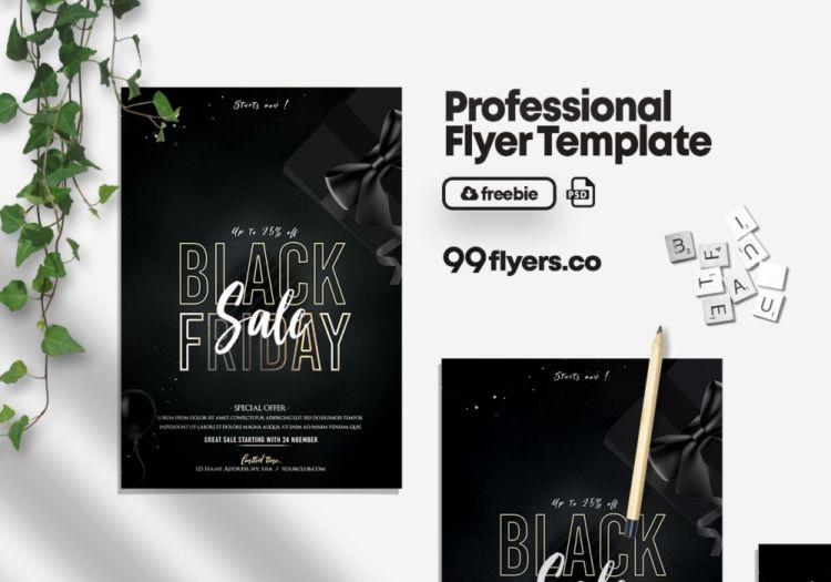 Black Friday Free PSD Flyer Template