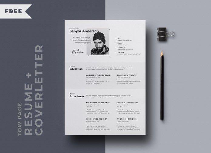 Black & White Resume Free PSD Template