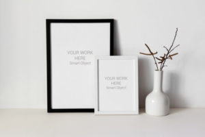 Black and White Photo Frame Free Mockups