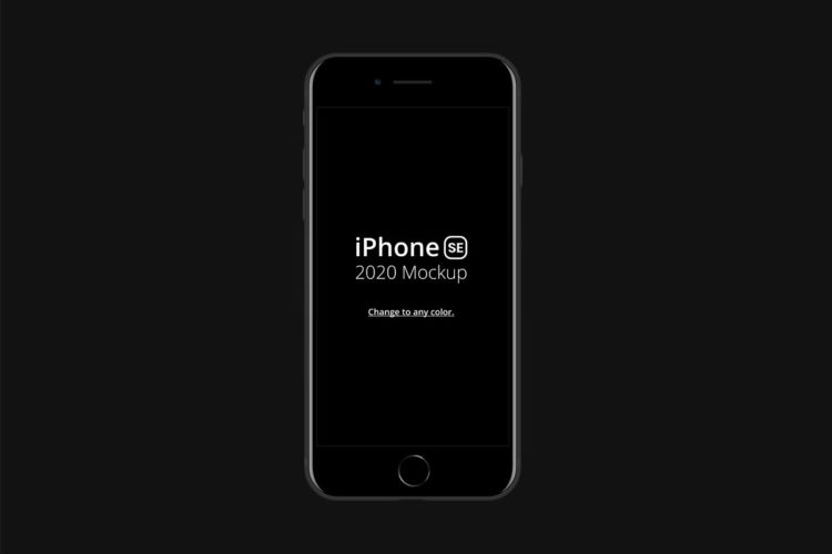 Black iPhone SE Free Mockup