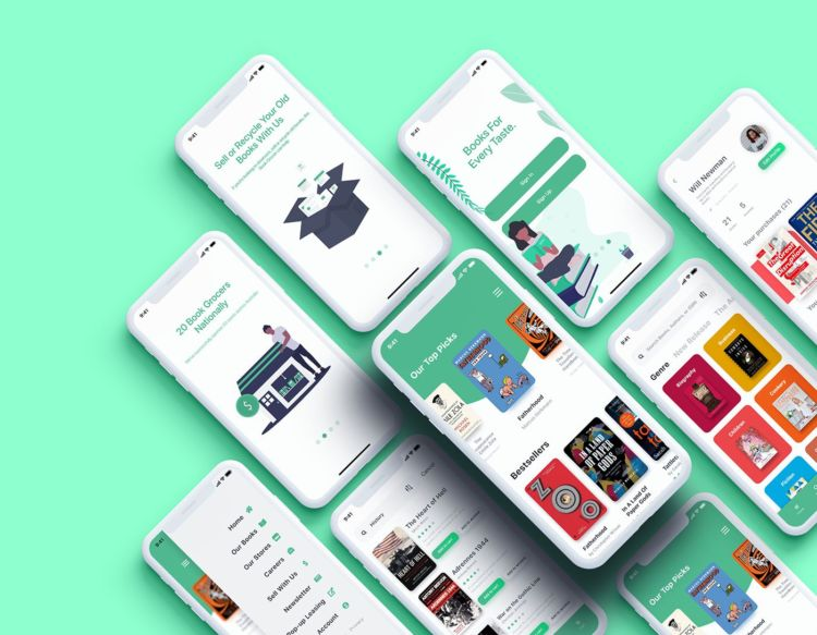 Bookstore Free XD UI kit