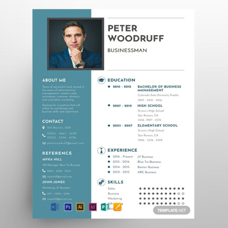 Business CV Resume Freebie Template
