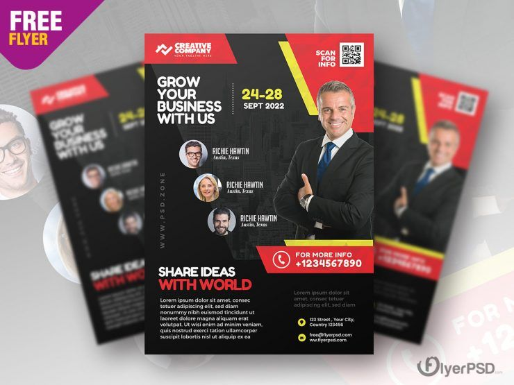 Business Event Seminar Free PSD Flyer Template