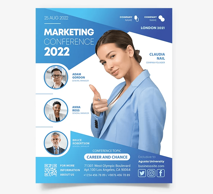 Business Marketing PSD Free Flyer Template