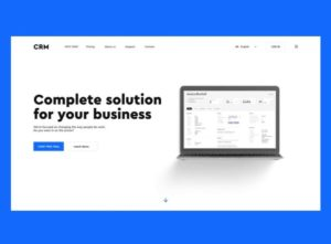 CRM Homepage Free XD Template
