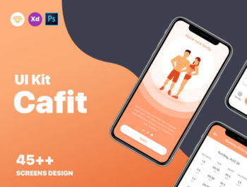 Cafit - Workout Gym Mobile Free UI Kit