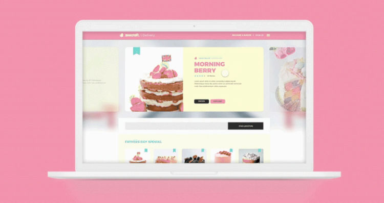 Cake Free UI Kit Web Template in XD