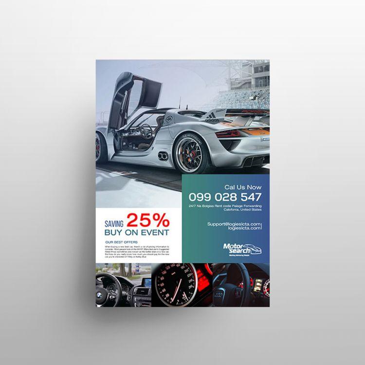 Car Sale Free PSD Flyer Template