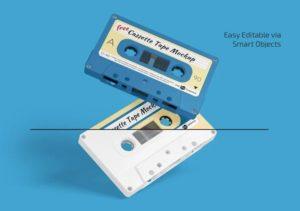 Cassette Tape Free Mockups Set