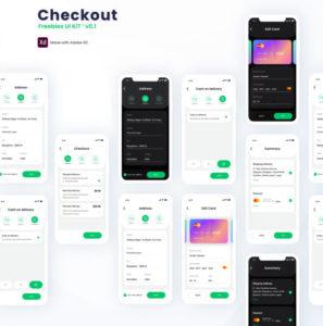 Checkout – Free Adobe XD UI kit