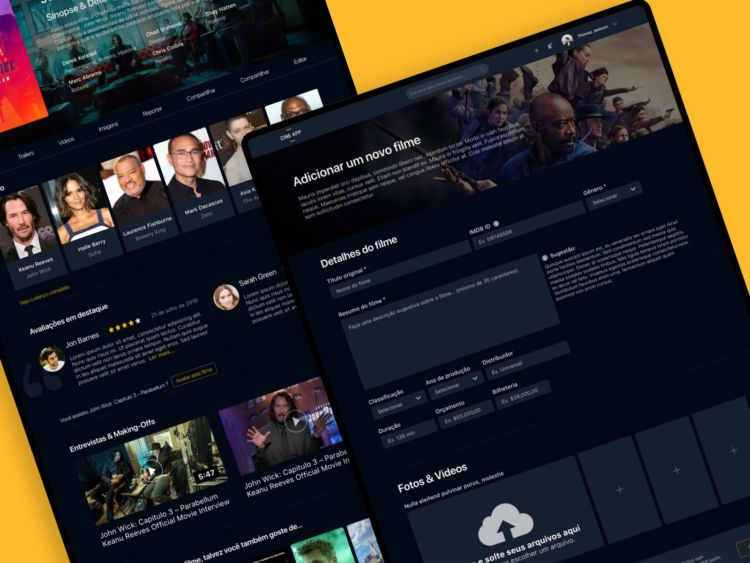 Cinema Free Website Template for XD