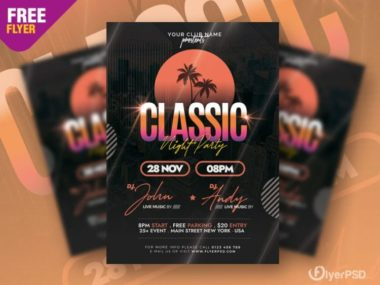 Classic Music Event Free PSD Flyer Template