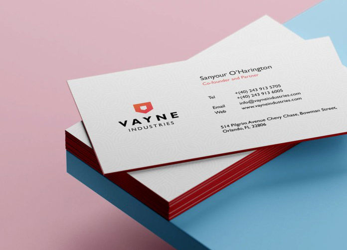 Clean Business Card Free PSD Template