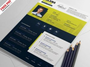 Clean Modern Resume Free PSD Template