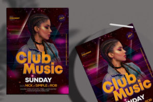 Club Music v3 Free PSD Flyer Template