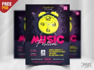 Club Party Free Modern PSD Flyer Template