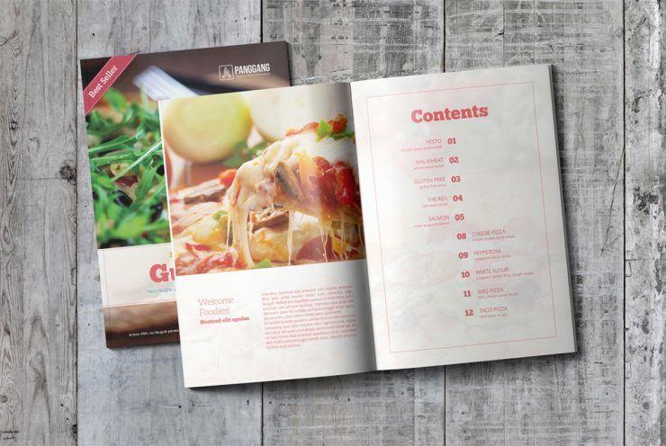 Cookbook Brochure Free PSD Template