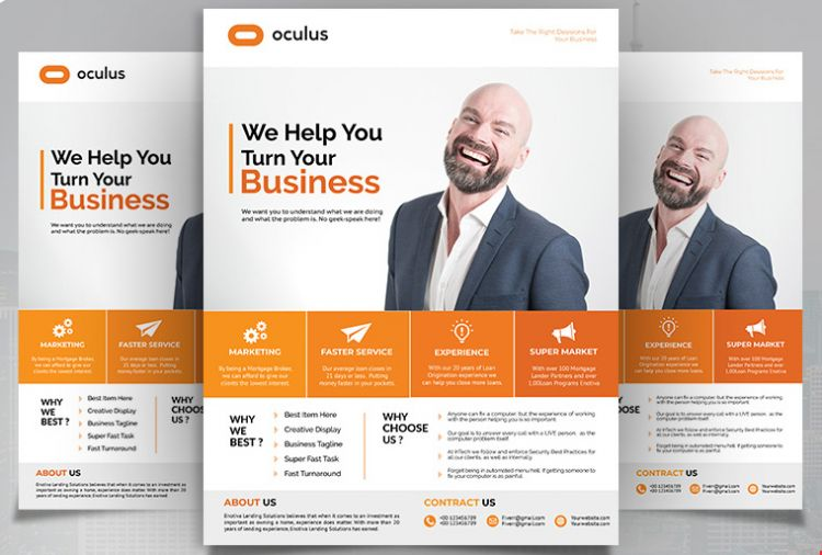 Corporate & Agency Freebie PSD Flyer Template