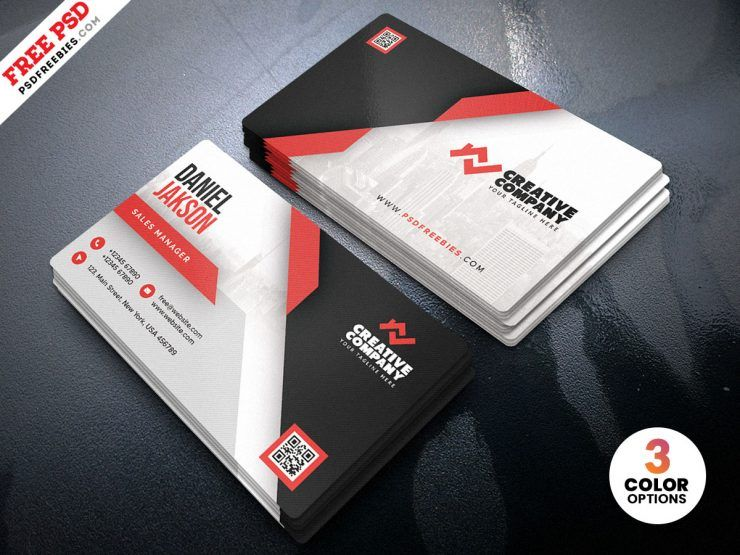 Corporate Business Card Free PSD Template (v4)