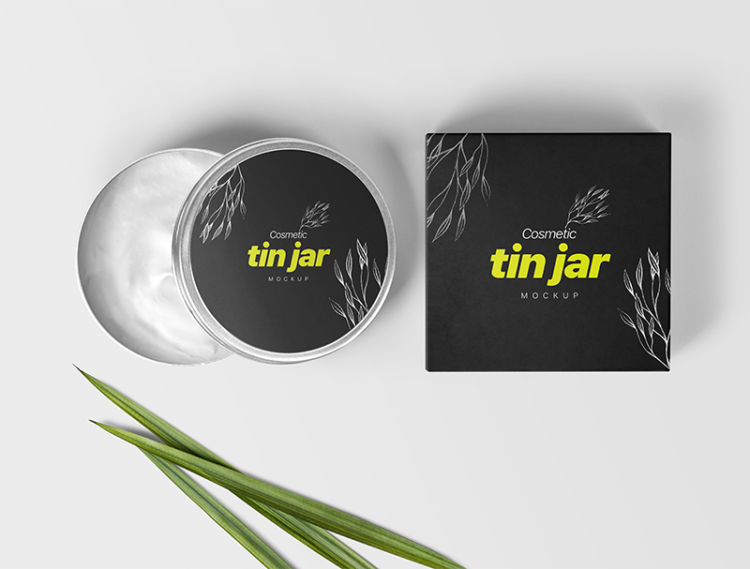 Cosmetic Tin Jar Free Mockup Packaging