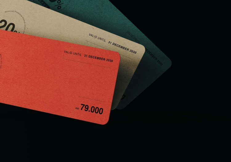 Coupon Card Free Mockup