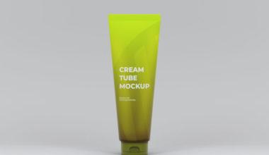 Cream Tube Freebie Mockup
