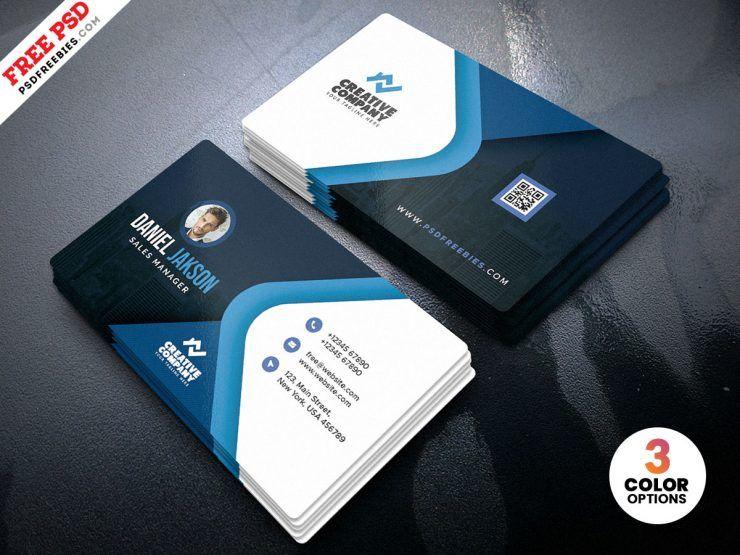 Creative Business Card Free PSD Template vol3