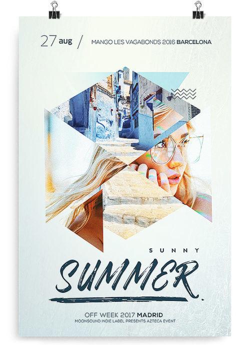 DJ Summer Event Free PSD Flyer Template