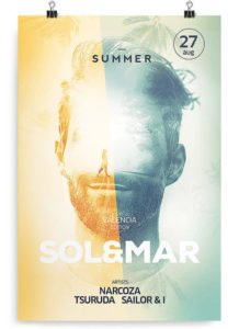 DJ Summer Freebie PSD Flyer Template