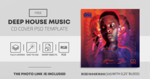 Deep House Music Free PSD Cover Artwork CD PSD