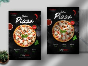 Delicious Pizza Delivery Free PSD Flyer Template
