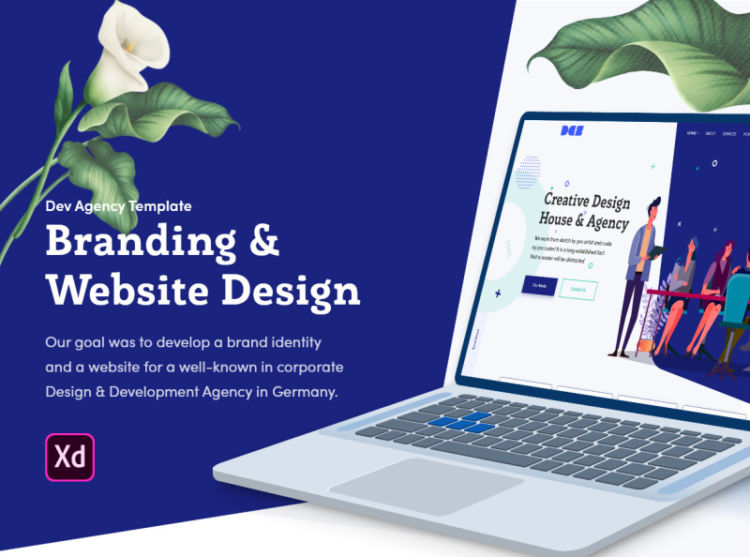 Design Agency Free Web Template for XD