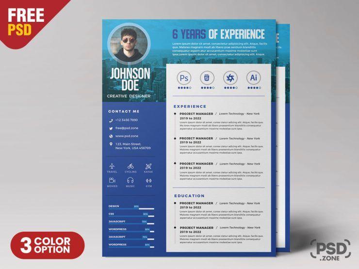 Designer Resume Free PSD Template