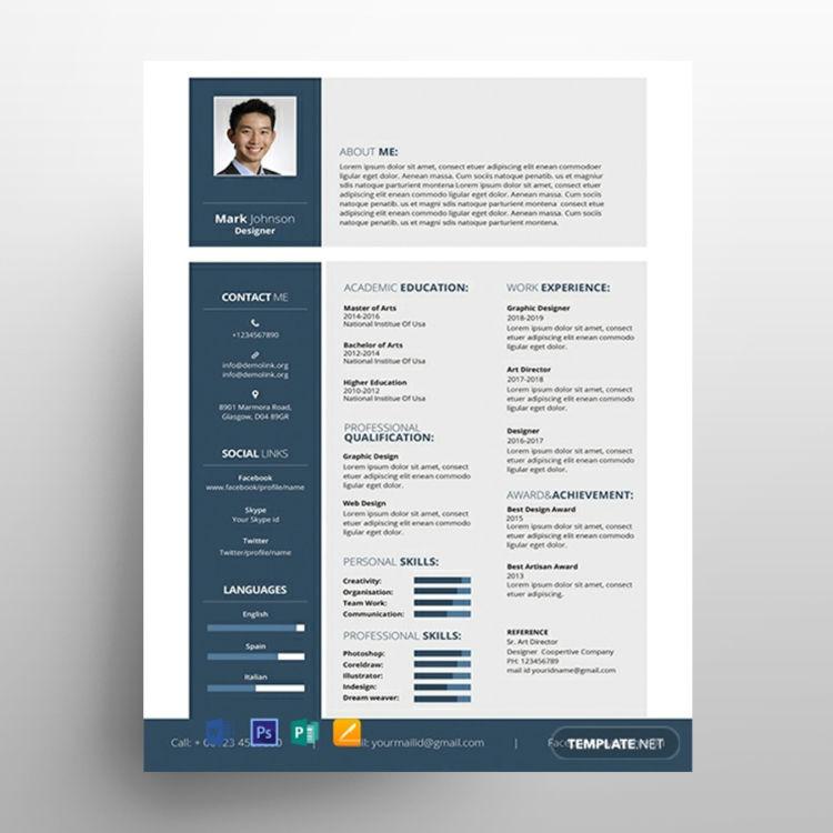 Designer Resume Free Template