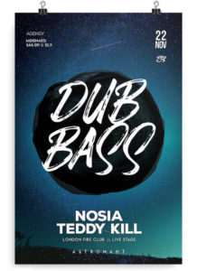 Drum & Bass PSD Free Flyer Template