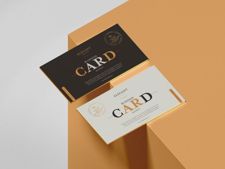 Elegant Brand Business Card Free Mockup