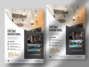 Elegant Real Estate PSD Free Flyer Template