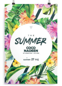 Exotic Floral Free Summer PSD Flyer Template