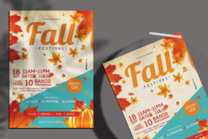 Fall Festival Free Autumn PSD Flyer Template